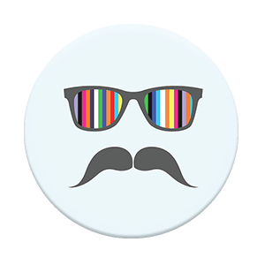 Popsocket  Light Blue Mustache