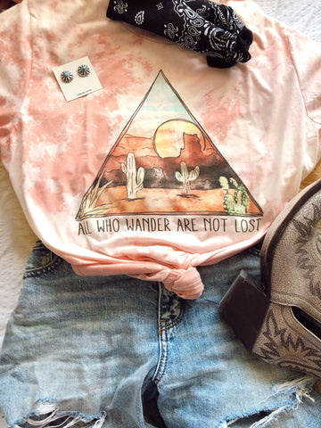 All who wonder bleach pink tee