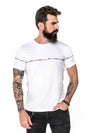 Camiseta masculina Barbed Wire - branca