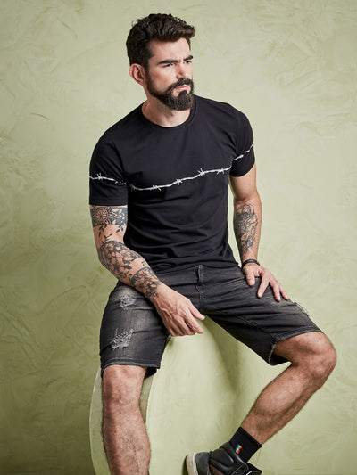 Camiseta masculina Barbed Wire - Black