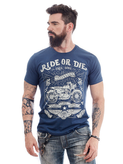 ROCK CLUB, BABY - camiseta masculina Ride or Die