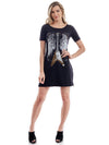 rock club baby - vestido preto flying V