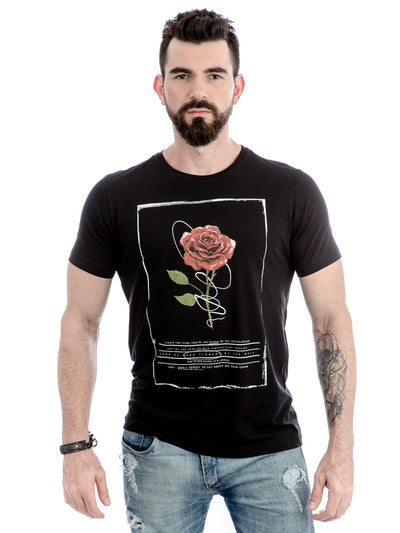 ROCK CLUB, BABY - camiseta masculina dead flowers
