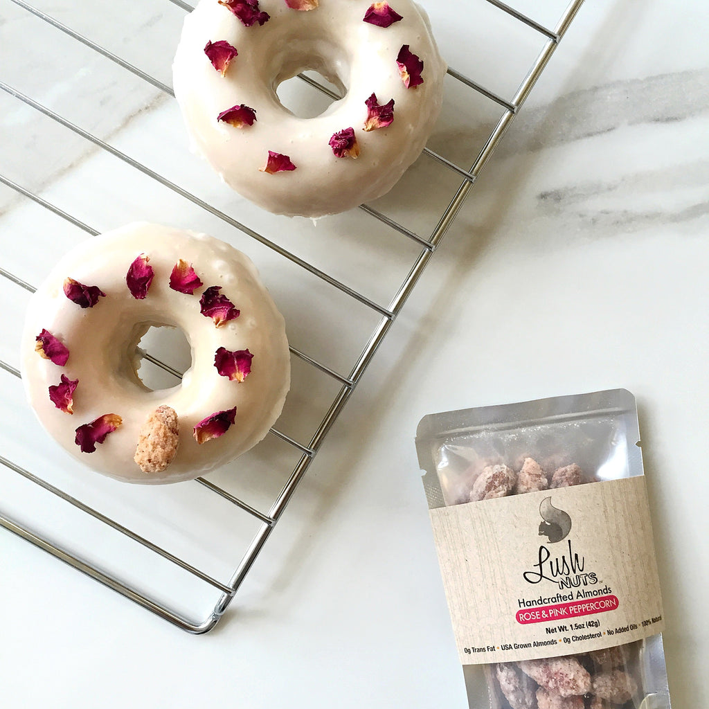 Rose & Pink Peppercorn Lush Nuts Donuts