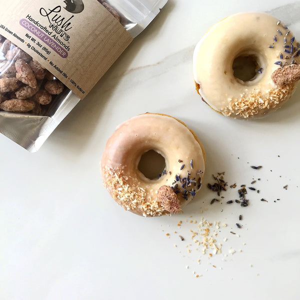 Coconut Lavender Lush Nuts Donuts