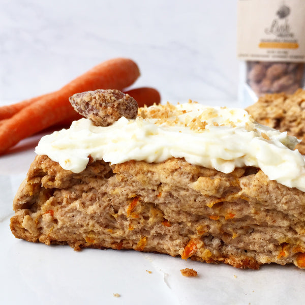 Carrot Cake Inspired Scones w/ Coconut Orange Peel Lush Nuts