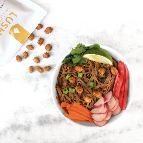 Hot Curry Peanut Cold Soba Noodle Salad
