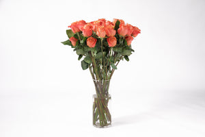 Beautiful bunch of orange roses. Orange roses are a symbol of passion and energy