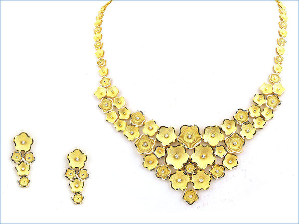 63.95g 22Kt Gold Yellow Necklace Set - 157