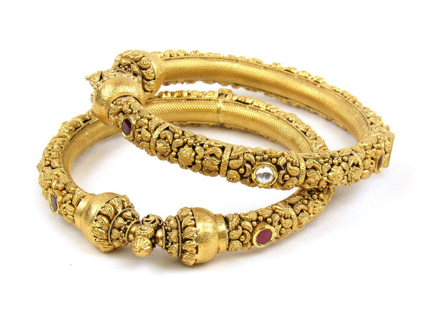 70.07g 22Kt Gold Antique Bangle Set - 1181