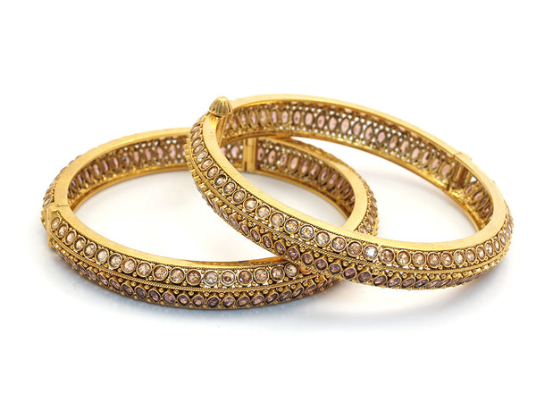 65.70g 22kt Gold Antique Bangle Set -