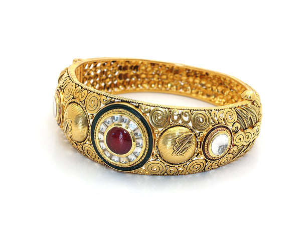 48.90g 22kt Gold Antique Bangle Set -