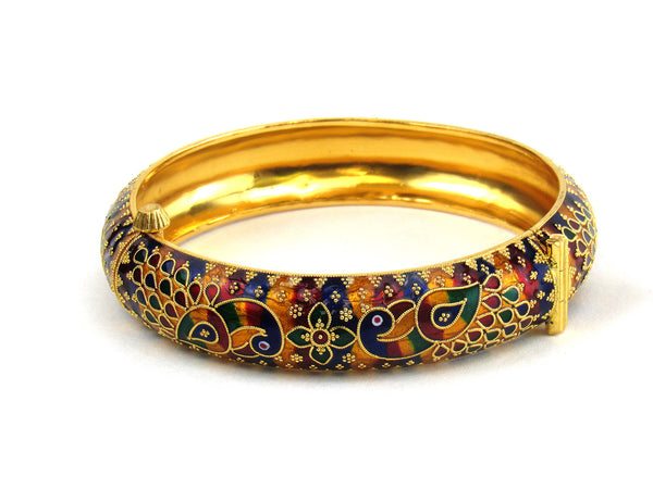 33.70g 22Kt Gold Antique Bangle Set - 198