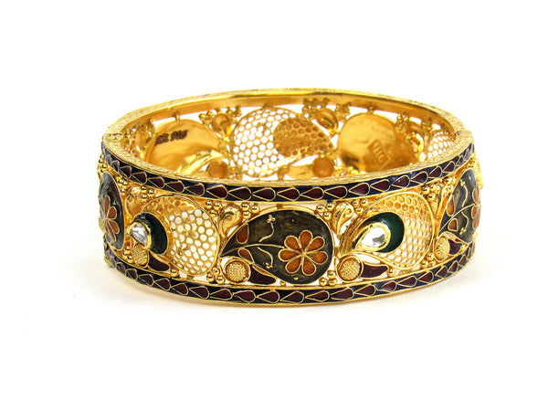 41.60g 22Kt Gold Antique Bangle Set - 221
