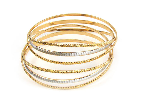 43.90g 22kt Gold Lazer Bangle Set (Sz: 5) India Jewellery