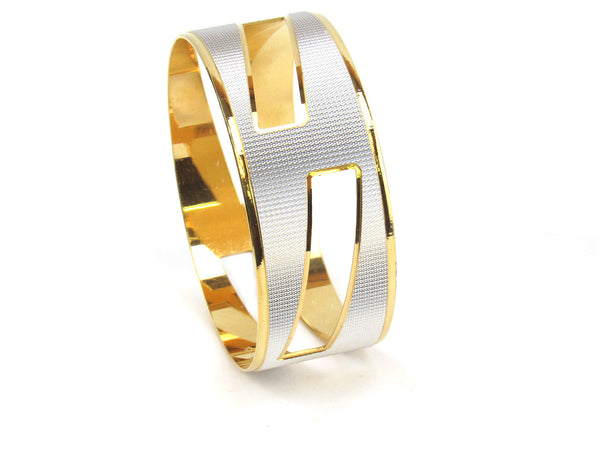 72.40g 22kt Gold Lazer Bangle Set (Sz: 1) - 157