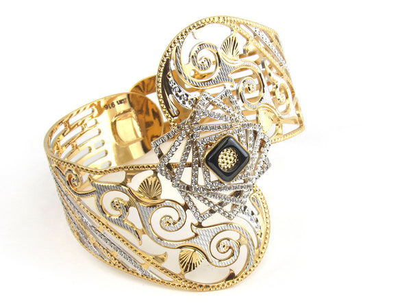 58.80g 22kt Gold Lazer Bangle Set (Sz: 4) - 163