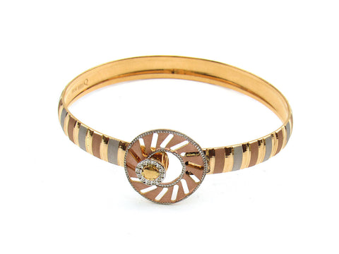 22.68g 22Kt Gold Lazer Bangle Set (Sz: 4) India Jewellery