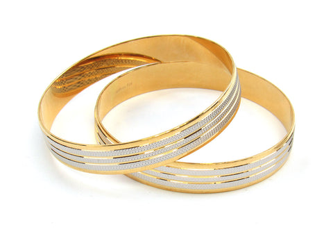 52.50g 22Kt Gold Lazer Bangle Set (Sz: 4) India Jewellery