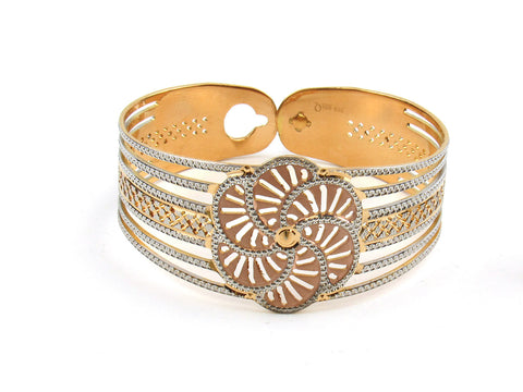 52.05g 22Kt Gold Lazer Bangle Set (Sz: 5) India Jewellery