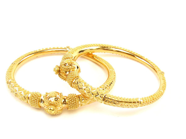 43.50g 22Kt Gold Pipe Bangle Set (Sz: 5) - 1420
