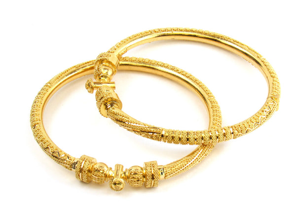 40.10g 22kt Gold Pipe Bangle Set - 155