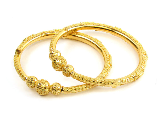 31.45g 22kt Gold Pipe Bangle Set - 162