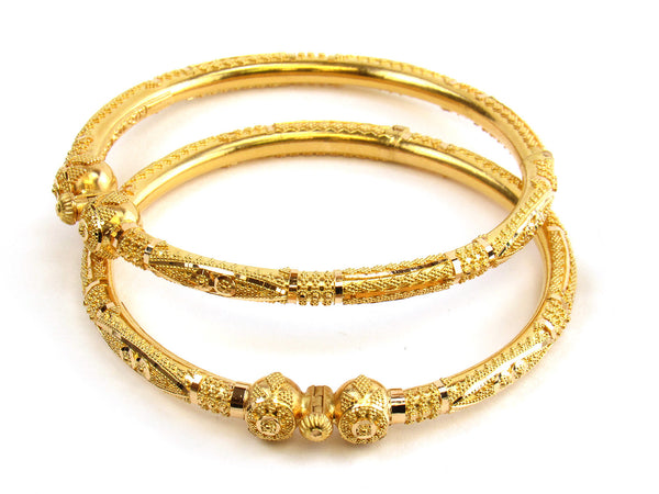 30.75g 22kt Gold Pipe Bangle Set - 171
