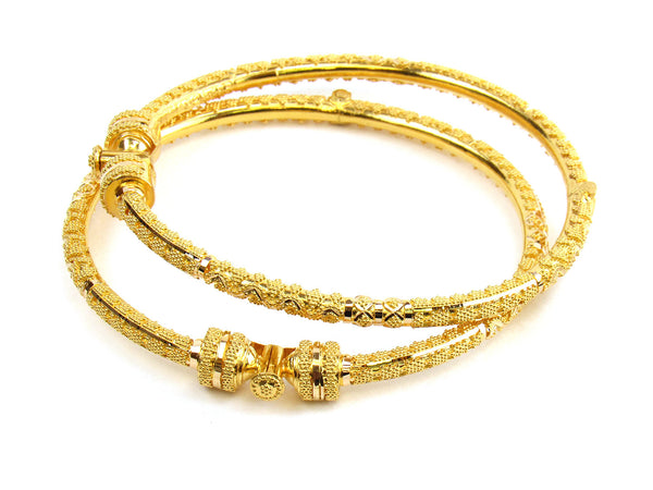 32.80g 22kt Gold Pipe Bangle Set - 176