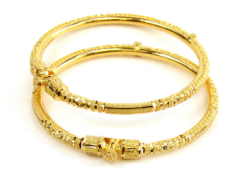24.80g 22kt Gold Pipe Bangle Set India Jewellery