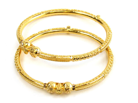 25.65g 22kt Gold Pipe Bangle Set India Jewellery