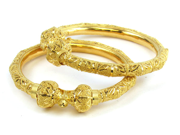 62.70g 22kt Gold Pipe Bangle Set - 188