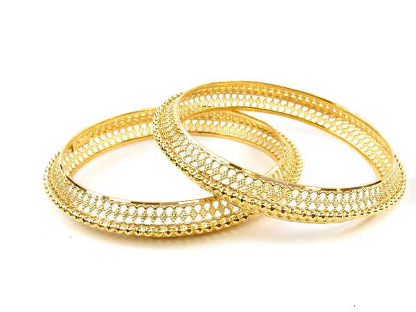 31.60g 22Kt Gold Stackable Bangle Set (Sz: 5) - 1246