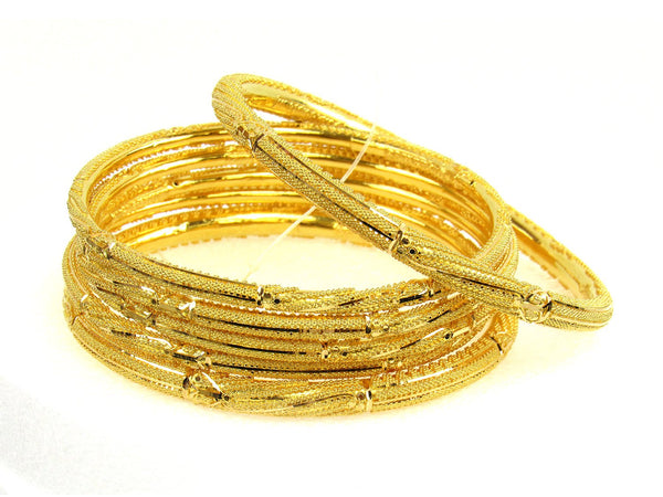 82.40g 22Kt Gold Stackable Bangle Set (Sz: 10) - 1250