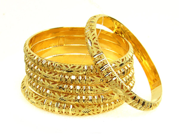 80.00g 22Kt Gold Stackable Bangle Set (Sz: 6) - 1271
