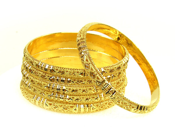 78.60g 22Kt Gold Stackable Bangle Set (Sz: 8) - 1278