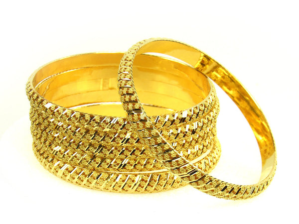 91.50g 22Kt Gold Stackable Bangle Set (Sz: 10) - 1281