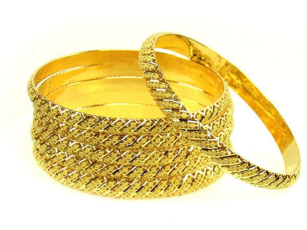 94.40g 22Kt Gold Stackable Bangle Set (Sz: 12) - 1283