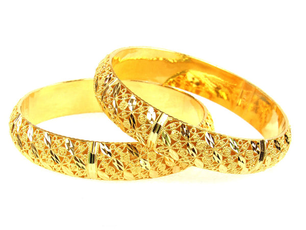 33.45g 22Kt Gold Stackable Bangle Set (Sz: 4) - 1292