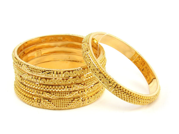 106.30g 22Kt Gold Stackable Bangle Set (Sz: 6) - 1395