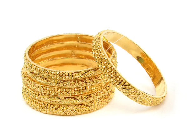 94.70g 22Kt Gold Stackable Bangle Set (Sz: 4) - 1396