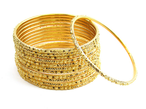 103.10g 22Kt Gold Stackable Bangle Set India Jewellery