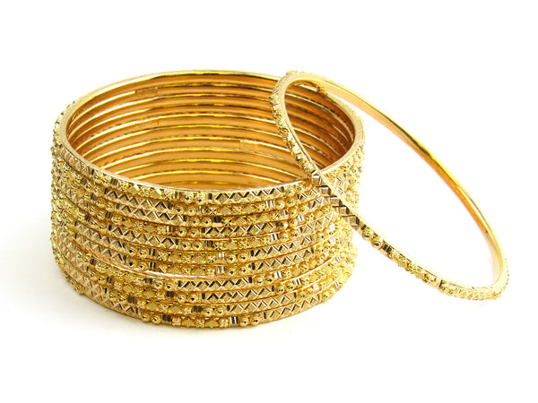97.10g 22Kt Gold Stackable Bangle Set - 152
