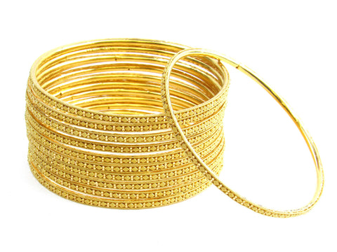 106.80g 22Kt Gold Stackable Bangle Set India Jewellery