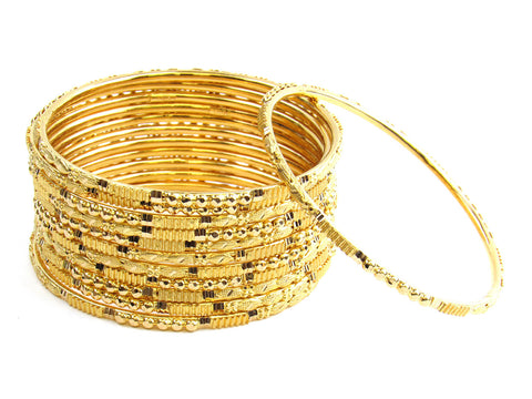 102.15g 22Kt Gold Stackable Bangle Set India Jewellery