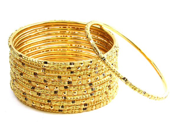 98.40g 22Kt Gold Stackable Bangle Set - 158