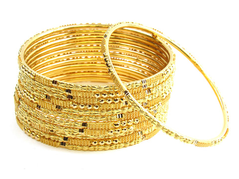 101.00g 22Kt Gold Stackable Bangle Set India Jewellery