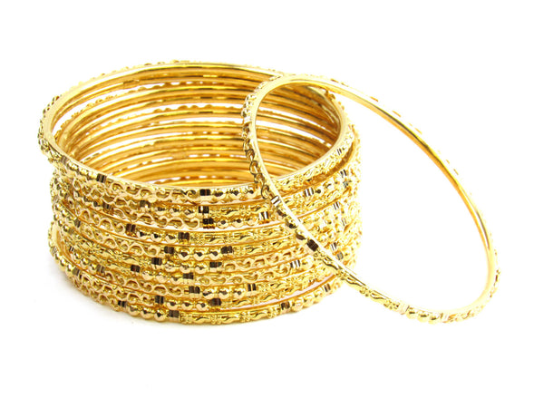 94.10g 22Kt Gold Stackable Bangle Set - 161