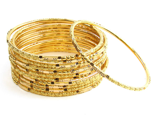99.90g 22Kt Gold Stackable Bangle Set - 163