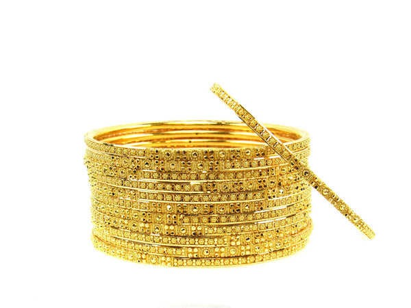 109.10g 22Kt Gold Stackable Bangle Set (Sz: 4) - 1679